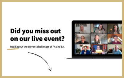 Executive Assistants Came Together to Discuss the Challenges of 2021! Review the Online 2nd EMEA Executive Assistants Event