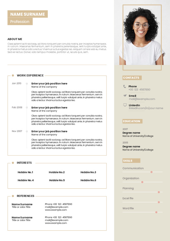 free CV template for assistants